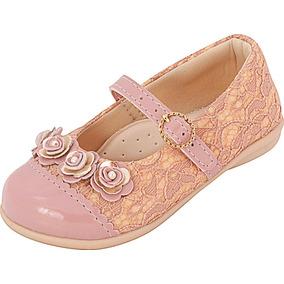 Sapatilha Infanti Menina Renda Rosê Plis Calçados