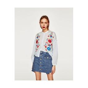 Camisa Blusa Zara Celeste Importada