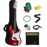 Guitarra Bajo Eléctrica Stedman Beginner Amplificador 15 Vat