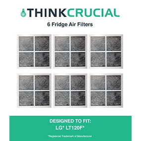 6 Lg Lt120f Air Purifying Fridge Filters, Part # 9918, Adq7