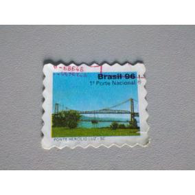 Selo Postal Brasil 96 Ponte Hercílio Luz - Sc