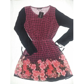 Vestido Cuadros Y Flores Montesco