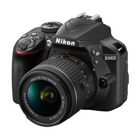 Câmera Profissional Dslr Nikon D3400 Kit 18-55mm Vr