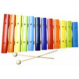 Xilofon De Madera Multicolor 12 Notas Diatonico