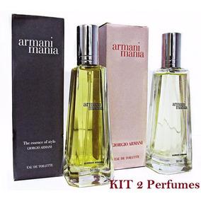 Perfumes Armani Mania Kit Fem + Masc Original Fragrância