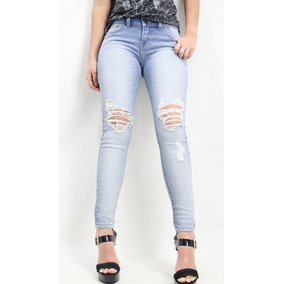 Calça Skinny Jeans Clara Destroyed Marca Revanche