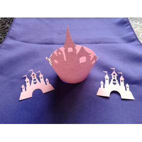 Porta Cupcake Castillo X10 Wrapper Calado Troquel Princesas