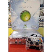 Xbox Clássico Crystal Na Caixa - Raridade
