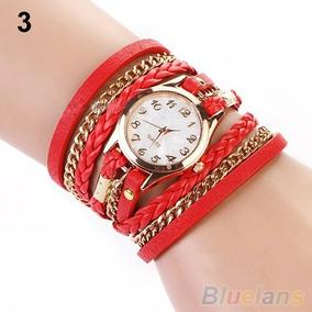 9912531c867 Relógio Bijoux Terner Quartz Pulseira Vermelha - Relógios no Mercado ...