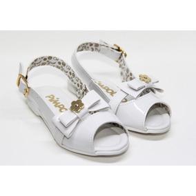 Sandália Peep Toe Branco Da Pimpolho