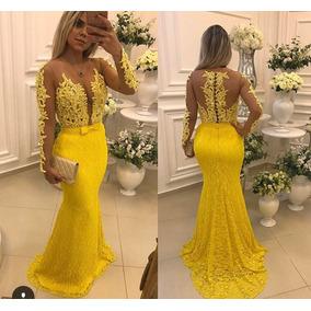 Vestidos de formatura cor principal amarelo femininas em so paulo vestido longo modelo barbara melo thecheapjerseys Choice Image