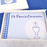 Souvenir Salve Regina Libro Firmas Comunión Varón Nene