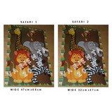 Safari- Afiche Para Piñata- Cotillon