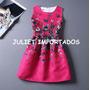 Vestido Infantil Menina Rosa Borboleta Importado 6 - 7 Anos