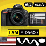 Nikon D5600 Profesional 24.2mp Touch Gps Full Hd Lente 16gb