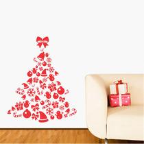 Adesivo De Parede - Árvore De Natal 2 Rosa Carmim