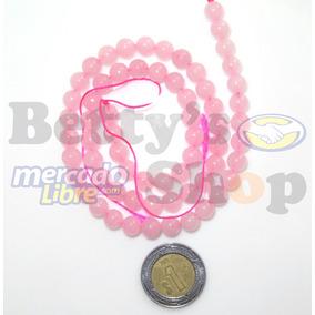 Una Tira Cuarzo Rosa 6mm Liso 62 Cuentas Piedra Natural