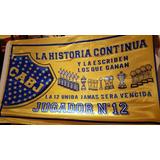 Bandera Boca Jrs Jugador N°12 (telon Nuevo)