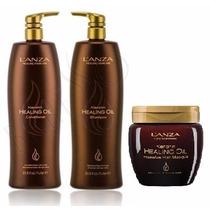 Lanza Keratin Healing Oil Kit 3 Produtos - Kit Profissional