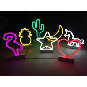 Kit 6 Luminária Led Neon Luz - Decoração -