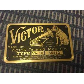 Fonografo Emblema De Bronce Sólo Pagas 350 Con Envio
