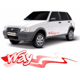 Faixa Lateral Way Vermelho Fiat Uno 2013/14/2015 Dacar Parts