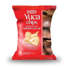 Pasapalo- Yuca Chips Con Sal 180 Grs Caja De 10 Unid