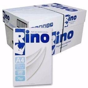 Papel Rino A4 75gr 210x297 Caixa Com 5000 Folhas 10 Resmas