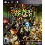 Dragons Crown Ps3 Mídia Física Lacrado Novo Raro Menor Preço