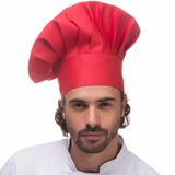 Chapeu Chef Vermelho Mestre Cuca Gastronomia Cozinha Gourmet