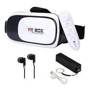 Combo Realidad Virtual +control +batería +audífonos Vr Box 2