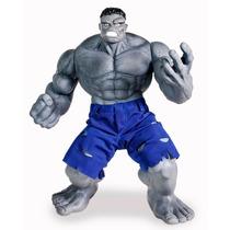 Boneco Hulk Cinza Articualdo 55 Cm Premium Gigante Promoção