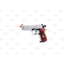 Marcadora Beretta 92fs Nickel Airsoft Pellet Co2 4.5mm Xtre