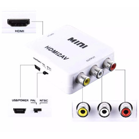 Mini Adaptador Conversor De Hdmi Para Video Composto 3rca Av