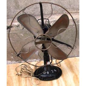 Ventilador Antiguo Marelli Aspas De Cobre Diam. 0.48 Alt.054