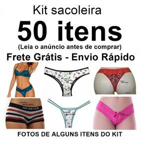 Sacoleira Atacado 50 Itens Lingerie Calcinha Tanga Fio Sutiã