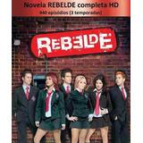 Dvd - Novela Rebelde Mexicana As Tres Temporadas Completa
