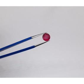 Rubi Natural Redondo 1,09 Ct 6,26mm Diâmetro Com Certificado