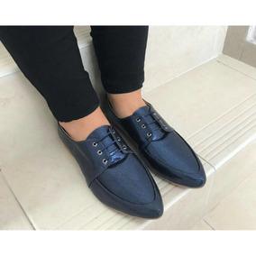 Zapatos Para Mujer Tipo Bolichero Azul