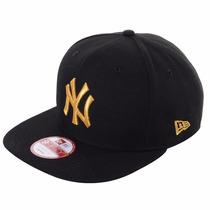 Boné Snapback Ny Yankees Black/gold Original Fit Aba Reta