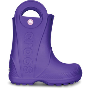 Crocs Originales Handle It Rain Boot Kids Violeta Niñas 506