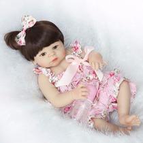 Boneca Bebê Reborn Milena Corpo Todo Silicone Pode Dar Banho