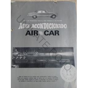Folleto Aire Acondicionado Ford Falcon Torino Fiat Año 1972