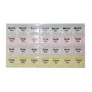 Porta Comprimidos Organizador De Remedios Semanal Caixa Para