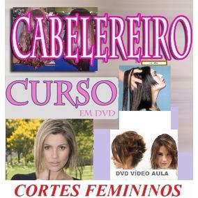 Curso De Cabeleireiro 40 Cortes Femininos!! Aulas Em 4 Dvds!