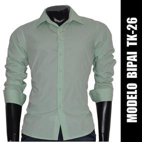 Camisa Social Slim Fit Tk-26, Frete Fixo R$ 15,00 Brasil