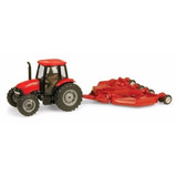 Miniatura Trator Case Ih Farmall 90 + Roçadeira - 1/64