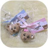 Kit C/30 Lembrancinha Urso Biscuit Nascimento Chaveiro C/tag