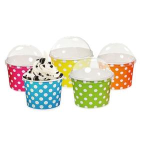 vaso lunares domo plstico tapa base cupcake dulceros mesa