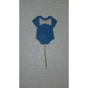 Baby Shawer Tutores Para Mufins 12x180 Azules